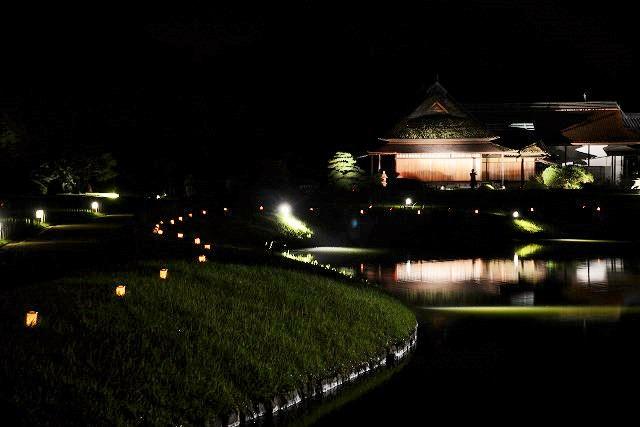 花火後の後楽園の幻想庭園5