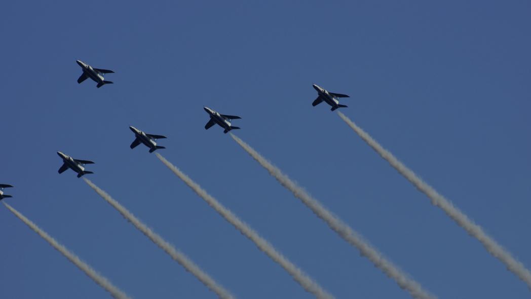 国立競技場ファイナル ブルーインパルス展示飛行7