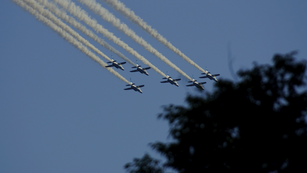 国立競技場ファイナル ブルーインパルス展示飛行6