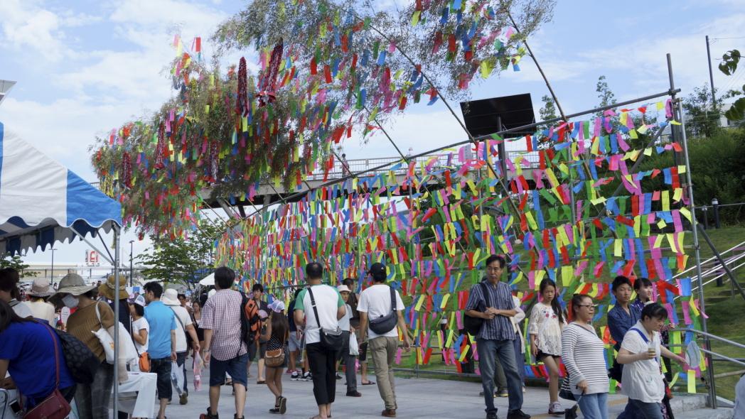 入間川七夕祭り 短冊 20140802