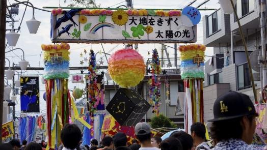 入間川七夕祭り 作品 学3 20140802
