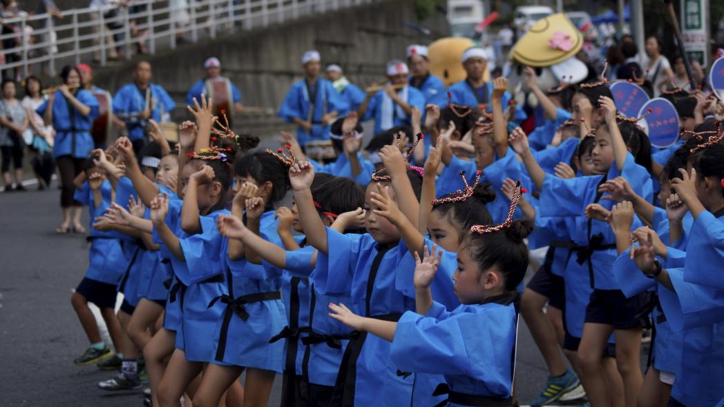 入間川七夕祭り 阿波踊り 富士見 2 20140803