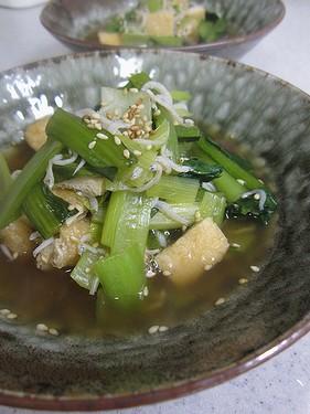 20140305小松菜油揚げしらす煮浸し2470968