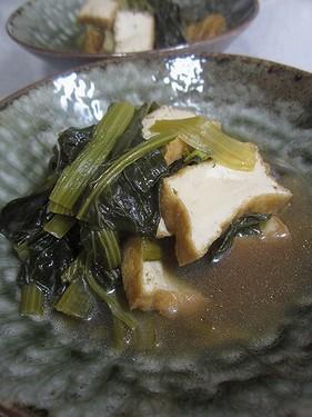 20140410 小松菜と油揚げ煮