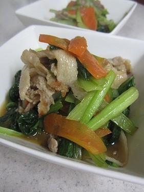 20140411 小松菜と豚肉炒め1413345