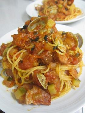 20140520 野菜のトマトパスタ
