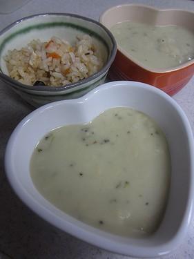 20140707 ブロッコリースープ&あわびごはん (1)