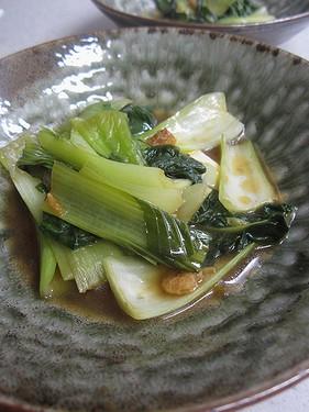 20140812 青梗菜のオイスター煮