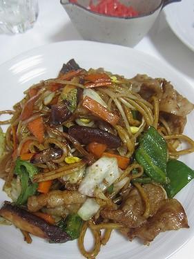 20140816 太麺焼きそば (2)