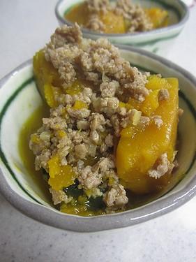 20140902かぼちゃそぼろ煮 (2)
