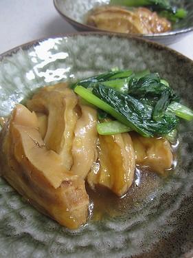20140910 車麩と小松菜の煮物