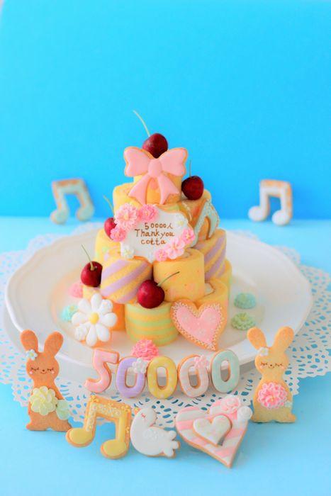 801 50000ケーキ青