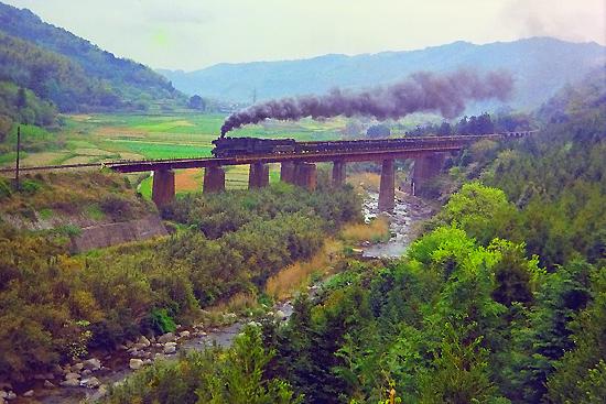 今川鉄橋のキューロク二題
