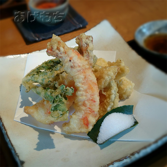 天ぷら蕎麦膳の天ぷら