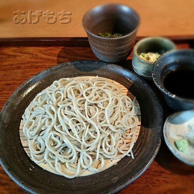 天ぷら蕎麦膳のざる蕎麦と小鉢