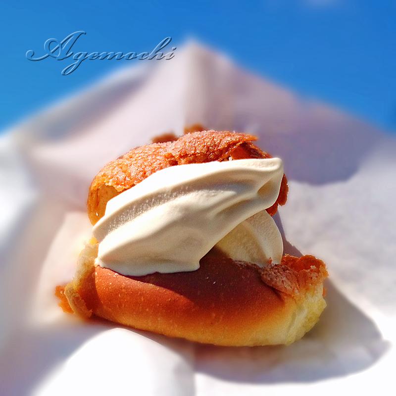 ソフトクリームパン(メロンパン)