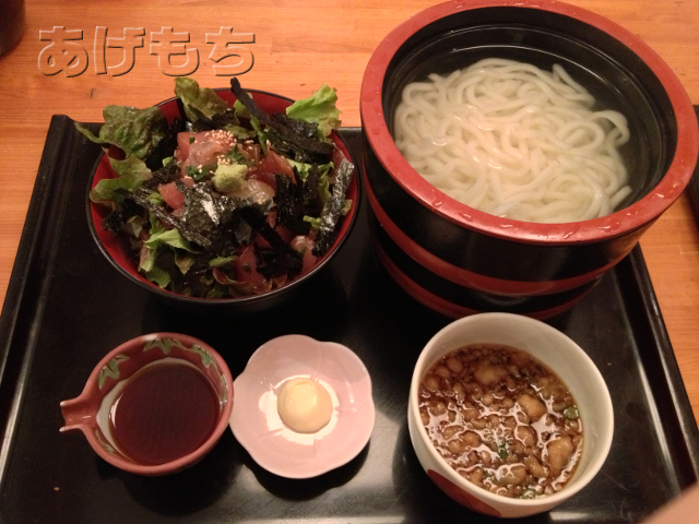 ミニ漁師丼+釜揚げうどんセット