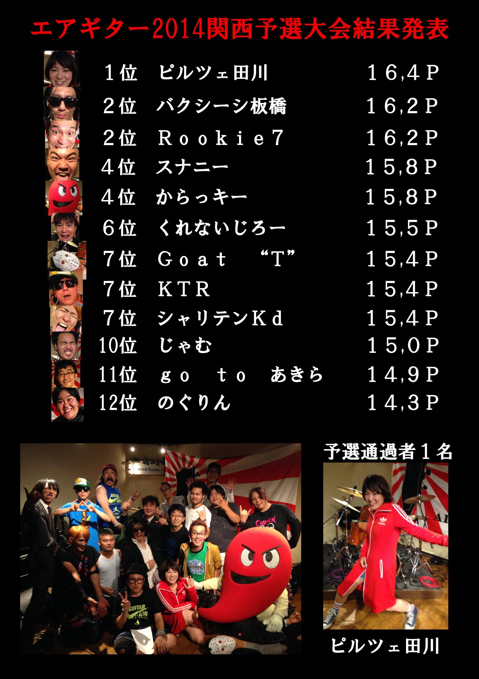 エアギター2014関西予選結果