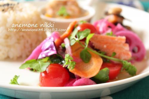 紫玉ねぎと鮭のマリネサラダ2