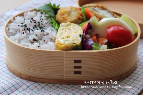 椎茸とカマンベールのフライ弁当2