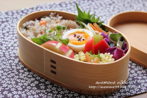 黒米入りカニ飯1