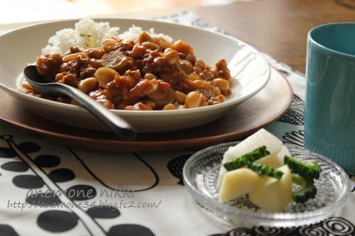 ごぼうと豆のキーマカレー2