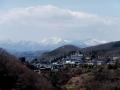 葛岡と西の山々