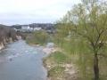 白柳の澱橋から見た青葉山