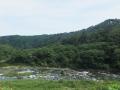 北斜面と川