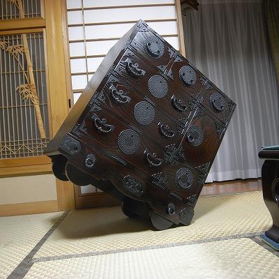 岩谷堂箪笥 車アラレ 35