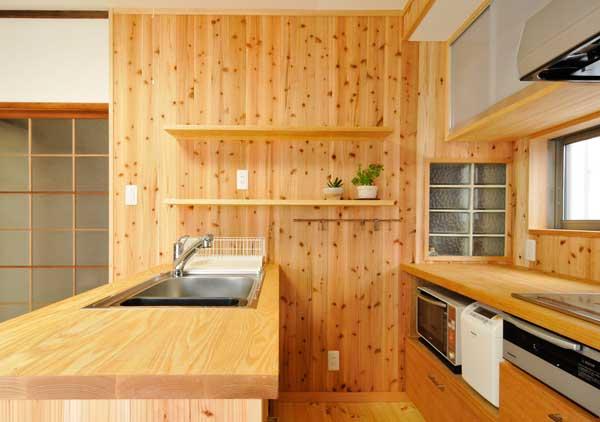 精華の家_木のキッチン600