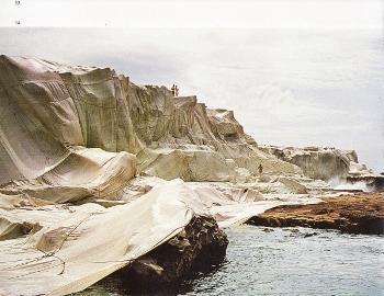 オーストラリア海岸の梱包作品