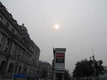 晴天の5月の北京の空