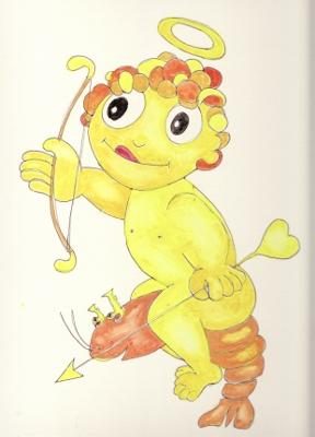 恋の水神社の妖怪エビ天使