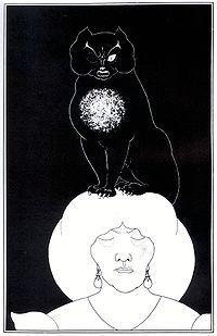 黒猫 ビアズリーによる挿絵