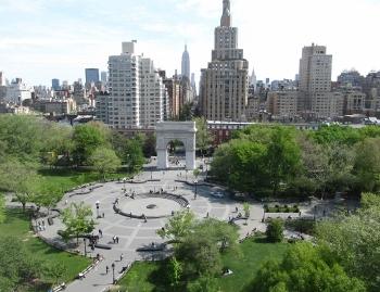 ニューヨーク大学ベランダからの風景