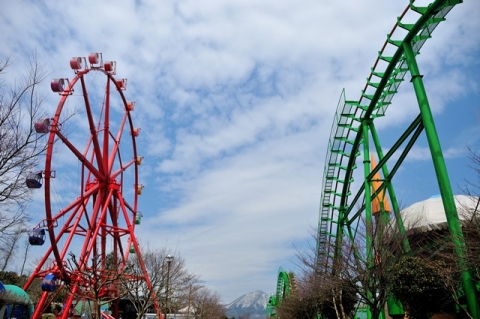 amusement and snow mountain
