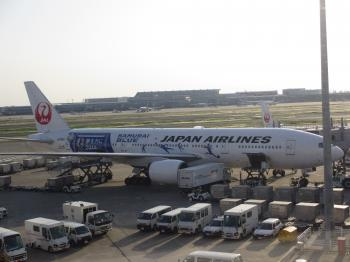 サッカー日本代表 飛行機