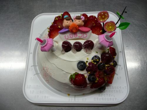 2014・ひなまつりケーキ