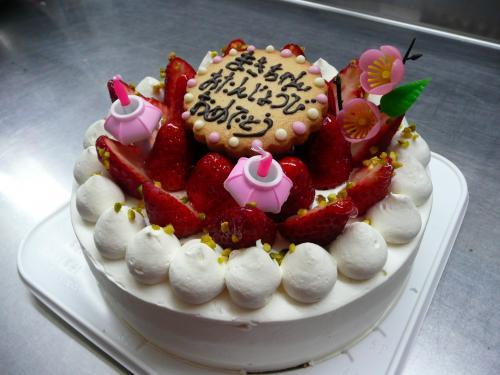 苺のひなまつりバースデーケーキ