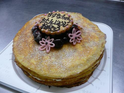 ミルクレープdeバースデーケーキ