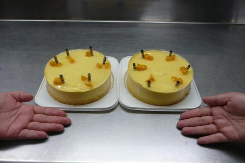 マンゴーのムースケーキ