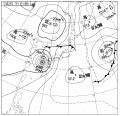 今日18:00の天気図