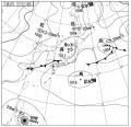18:00の天気図