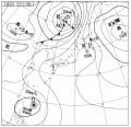 7月21日18:00の天気図