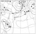7月22日18:00の天気図