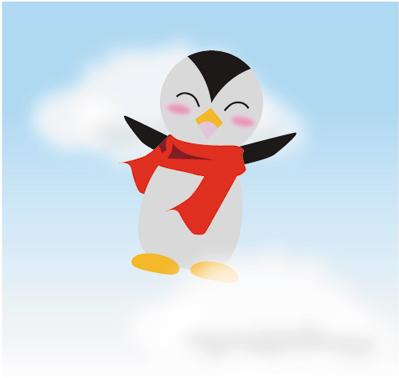 ペンギン(飛翔)