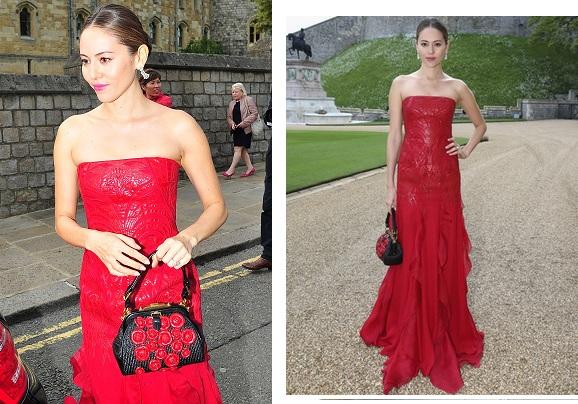 赤のドレスを着た道端ジェシカ