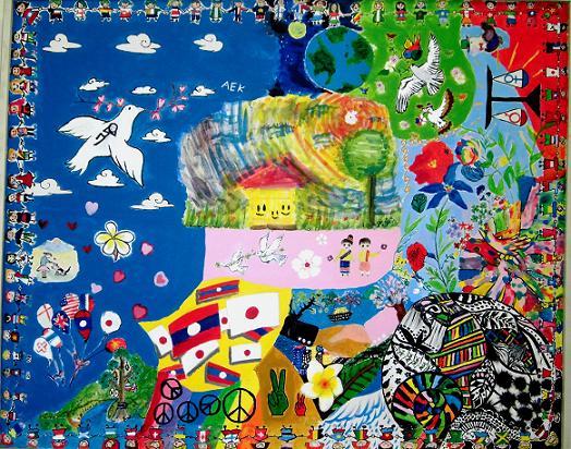 14.4.18季風会展5日目。合作絵画 (9)