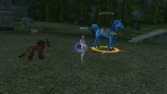 イベントの青い馬ハッケン!